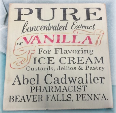 "PURE Concentrated Exract of Vanilla 11.5 x 11.5"" Stencil"
