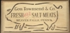 "Geo. Townsend & Co. Fresh and Salt Meats (pig graphic) 24 x 11.5"" Stencil"