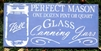 "Perfect Mason One Dozen Pint or Quart Glass Canning Jars 24 x 11.5"" Stencil"