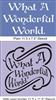 What A Wonderful World Stencil Two Style Choices