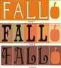 FALL with pumpkin graphic 5 piece stencil set
