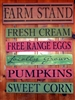 Farm Stand 6 Stencil Set Eggs, Cream, Pumpkins, Corn