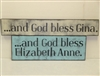 "...and God bless ""your name"". Stencil Set. Customize it yourself with included alphabet."