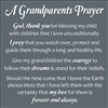 "A Grandparents Prayer 11.5 x 11.5"" Stencil Sheet"