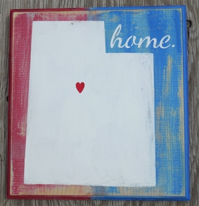 "Your State 10"" Outline with ""home"" and Hearts Stencil Set Stencils Graphic Graphics DIY"