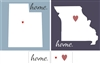 "Your 5"" State Outline with ""home"" and Hearts Stencil Set"