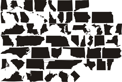 "ALL 50 STATES - Outline with ""home"" and Hearts Stencil Set Save 50% by buying the set!"