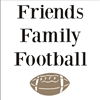 "Friends, Family, Football with football graphic 11 x 11"" Stencil"