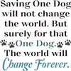 "Saving One Dog / Cat will not change the world... 11.5 x 11.5"" Stencil"