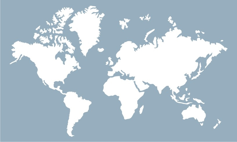 World Map 20 X 12 Stencil Two Size Choices