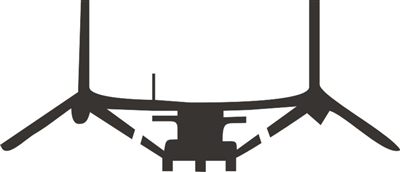 Osprey Helicopter Stencil Two Size Choices