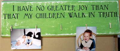 "I HAVE NO GREATER JOY THAN... 24 x 3.5"" Stencil"
