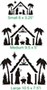 Manger Scene Stencil -Three Size Choices