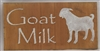 "Goat Milk with goat graphic 12 x 5.5"" Stencil"