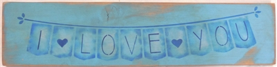 "I Love You (Banner Style) 24 x 5.5"" Stencil Set"