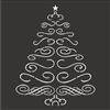 Scroll Christmas Tree Two Size Choices Stencil