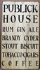 Publick House Rum Gin Ale Brandy Cyder... Stencil -Two Size Choices