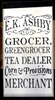 "E K Ashby Grocer, Greengrocer, Tea Dealer... 12 x 18"" Stencil"