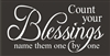 "Count your Blessings name them one by one 16 x 8"" Stencil"