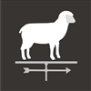 Sheep Weathervane Two Size Choices