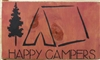 "Happy Campers with tent graphic 12 x 7.5"" Stencil"