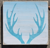 Antlers graphic Three Size Choices Stencil