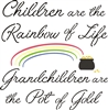 "Children are the rainbow of life. Grandchildren are the pot of gold. 11.5 x 11.5"" Stencil"