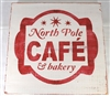 "North Pole Cafe 11.5 x 11.5"" stencil"
