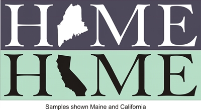 HOME - H (your choice of state graphic) ME stencil two size choices graphics stencils diy