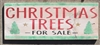 CHRISTMAS TREES FOR SALE -Two size choices stencil