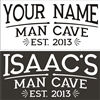 """Your Name"" Man Cave Est. ""your year"" 16 x 8"" stencil"