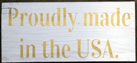 Proudly made in the USA. stencil -two style choices