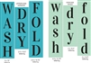 Wash Dry Fold Stencil set choice of Upper or Lower Lettering