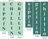 Sippin Grillin Chillin Stencil set choice of Upper or Lower Lettering