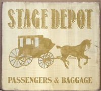 "Stage Depot Passengers & Baggage 11.5 x 11.5"" Stencil"