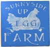 "Sunnyside Up Egg Farm 11.5 x 11.5"" stencil stencils graphic chicken graphics"