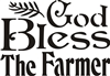 "God Bless The Farmer 11.5 x 8"" stencil"