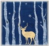 "Winter Scene with deer and trees 12 x 12"" -2 part stencil set"