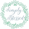 "Simply Blessed with wreath graphic 11.5 x 11.5"" stencil stencils diy graphics"
