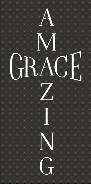 Personalized Street Signs >> Amazing Grace in cross shape Two size choices stencil