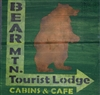 "Bear Mtn. Tourist Lodge 12 x 12"" stencil"