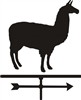Alpaca Weathervane Two Size Choices