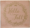 "Hello Fall with wreath graphic 11.5 x 11.5"" stencil"