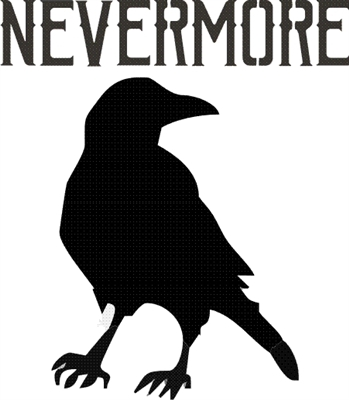 "Nevermore with Raven graphic 7.5 x 8.5"" stencil"