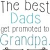 "The best Dads get promoted to Grandpa 11.5 x 11.5"" stencil"
