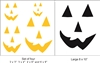 Jack O Lantern Face -Two Choices Stencil
