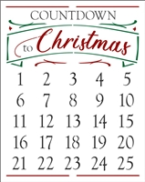 COUNTDOWN to Christmas Calendar Stencil -Two Size Choices