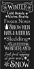 "WINTER Cold Hands Warm Hearts Frozen Noses SNOWMEN... w/ Snowflake graphics 12 x 24"" Stencil"