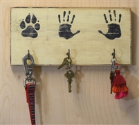 His Hers Paw or Hand Hand Paw or (Hers Hers/ His His/ Human Human) Key, Coat, Hat, Leash Rack Stencil