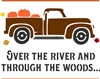 "Over the river and through the woods... with Vintage Truck & Pumpkins 12 x 10"" Stencil"
